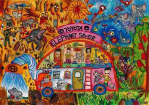 "M.Charu Chanud Perera :""TOYOTA ELEPHANT SAVER CAR""-Category 2"