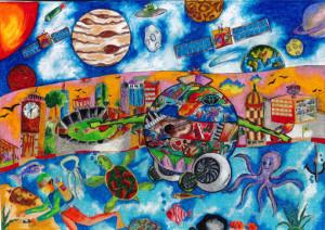 """N . Dinushitha Muthumala :""""MY UNIVERSAL DREAM CAR""""-Category 2"""