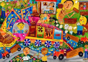 "Rasanjana Wibuthi Rajapaksha :""INSTANT BRICKS MANUFACTURING CAR ""-Category 1"