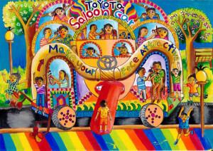 "Jithmina Amaljith :"" TOYOTA SALOON CAR""-Category 3"