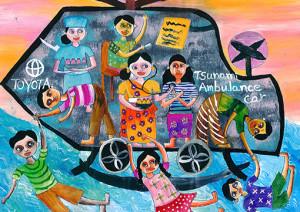 """Upeksha  Amarathunga : """"Toyota Tsunami Ambulance Car"""" - Category 2"""