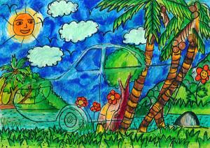 """Ravindu Karunanayake : """"Transparent Solar Power Car"""" - Category 2"""