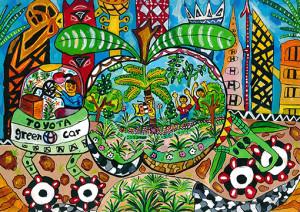 "Lakshan Cooray :  ""Green Car"" - Category 2"
